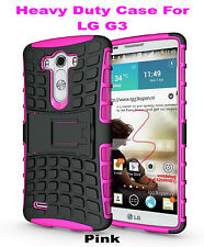 Pink Strong Handyman TPU Hard Case Cover Stand for LG G3, Heavy Duty & Tough