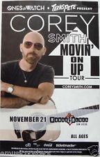 """COREY SMITH """"MOVIN' ON UP 2013 TOUR"""" SAN DIEGO CONCERT POSTER-Country Rock Music"""