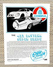 FORD SHELBY COBRA 427 DAYTONA SUPER COUPE RACE CAR LITERATURE FACT SHEET 36