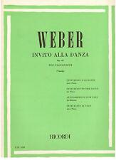 Weber: Invito Alla Danza op.65 Per Pianoforte (Tausing) - Ricordi 1989