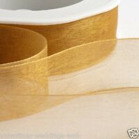 Full Roll Organza Ribbon Woven Edge 20m 50m 7mm 15mm 25mm 38mm  Italian Options
