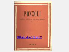 Pozzoli Corso Facile di solfeggio Parte I Volume 1 Edizione Ricordi ER 2071