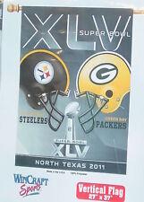 Green Bay Packers vs Pittsburgh Steelers, Vertical Flag Super Bowl 45