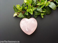 Rose Quartz Crystal Puff Heart - 25mm - Gemstone, Tumblestone - Love & Fertility