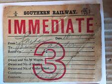 Paper Ephemera Railway Wagon Label Southern Railway used