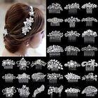 Best Bridal Wedding Rhinestone Crystal Hair Headband Crown Comb Tiara Pageant