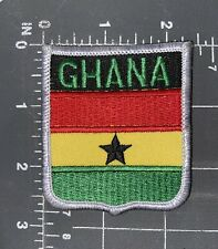 Republic of Ghana National Country Flag Patch Shield Crest Ensign West Africa