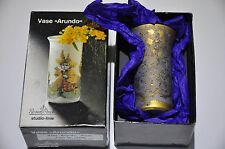 Rosenthal Germany VASE Gold Bronze Purple Studio-Linie -Handgemalt