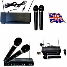 Sistema MICROFONO WIRELESS Twin Set RLAKY WR-306 Karaoke Ricevitore Dual 2 x Mic