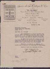 COMMERCIAL LETTER / EL GLOBO / SAN JUAN PUERTO RICO / 1940 / RARE
