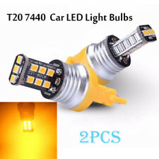 Yellow T20 7440 15-SMD LED Car Turn Signal Light Single Filament Tail Light Bulb