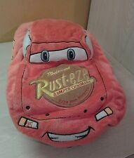 Disney Pixar Lightning McQueen Orange Rusteze Plush Microbead Cars Pillow 18""