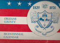 Orleans County NY Bicentennial Calendar 1976 Medina Barre Carlton Albion