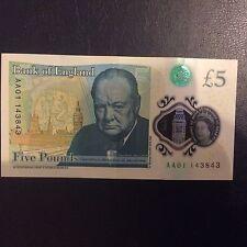 Pièces 5 LB (environ 2.27 kg) Banque d'Angleterre Nouveau polymère Note AA01...