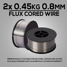 2x 0.45kg 0.8mm Gasless MIG Welding Wire E71t-gs Flux Cored Welder Mild Steel
