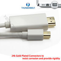 Mini Display Port to HDMI Audio Video Adapter Cable 6ft for imac MacBook Air Pro