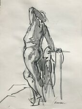 Harry Carmean drawing of standing male model early 1970's