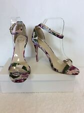 BRAND NEW M MULTI COLOURED FLORAL PRINT HEELED SANDALS SIZE 6/39