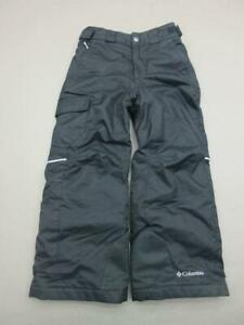Columbia Size XS(6-7)Boys Black Thermal OmniTech Insulated Cargo Snow Pants T122