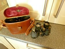 VINTAGE 12 x 40 BROA CLAR BROADHURST BINOCULARS BY CLARKSON & CO IN LEATHER CASE