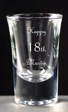 Personalised Shot Glass, Birthday Gift, 18th 21st 25th 30th 40th 50th