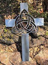 "Celtic Infinity Knot Metal Wall Cross 16 1/4"" x 10 1/4"" Silver"