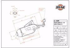 0229 SCARICO MARMITTA SITO TWIN CHAMBER PIAGGIO - SKIPPER 150  SKIPPER 125 2T