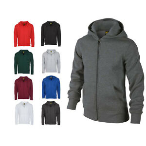 Mens Full Zip Hooded Sweatshirt Jacket Size XS to 6XL SPORTS CASUAL WORK LEISURE