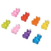 10 Teile / Satz Gummibärchen Candy Charms Halskette Anhänger DIY Ohrring Schmuck