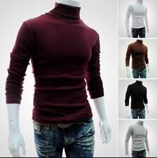 Winter Men Warm Cotton High Neck Pullover Jumper Sweater Turtleneck Stylish Tops