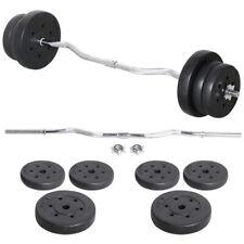 Curl Dumbbell Barbell Set Weights Bent Bar Workout Gym Triceps Biceps 23.5kg UK