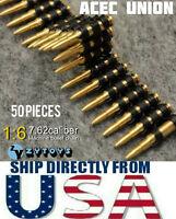 1/6 Scale 7.62 Caliber 50PCS Metal Machine Bullet Chain U.S.A SELLER