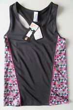 FLAME SPORT Funktions-Top XS, T-Shirt 34 36,Sporttop schwarz m RAUTE Ringer Back