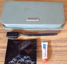 KLM Airline Jantaminiau Amenities Case Bag Green Zipper