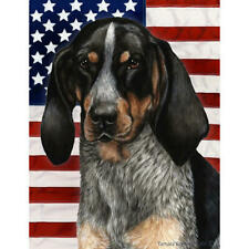 Blue Tick Coonhound Patriotic Ii Flag
