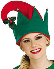 Christmas Hat Red & Green Christmas Hat Attached Mistletoe