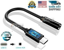 New Universal USB C to 3.5mm AUX Headphone Adapter Type C Jack For Android B