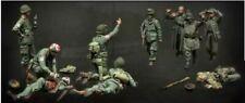 1:35 German & US Army Soldiers Varsity Operation Resin Model Kit 10 Figures WWII