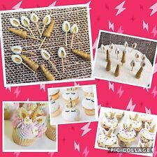 Unicorn Edible Unicorn Ear Horn cupcake topper/decoration 12 Sets Fondant
