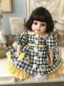 "Marie Osmond Olive May Springtime Porcelain Toddler 15"" Doll  COA 1666/7500"