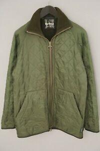 Men Barbour Polarquilt Jacket Short Green Casual Breathable Windproof S VAU285