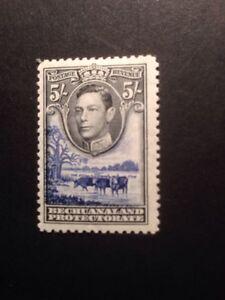 bechuanaland SG 127 1938 5/- Black And And Ultramarine GVI Mint