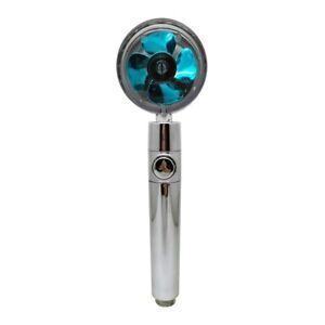 360° Bath Shower Head High Turbo Pressure Handset Vortex Propeller Plating NEW