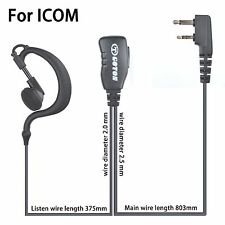 Earpiece Headset Earphone For ICOM IC- F3 F4  F10 F33 F34 F43 F44 F4021 Radio