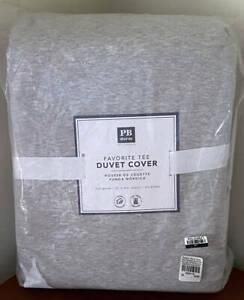 Pottery Barn Teen Favorite Tee FULL / QUEEN Duvet Cover ~ Heathered Light Gray