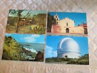 Vintage CALIFORNIA Postcards Knott's Berry Farm Palomar Mission Alcala Unposted