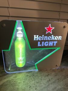 Heineken Beer LED ILLUMINATED SIGN WALL MOUNTED LIGHT BOX for Garage Man Cave