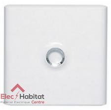 Porte opaque blanche pour coffret 1 rangée ou communication Legrand 401331