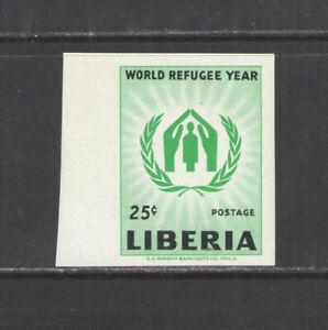 1960 LIBERIA Sc # 388 COMPLETE IMPERFORATE SINGLE  MNH