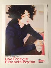 ELIZABETH PEYTON original exhibition poster Live Forever 2009 New Museum NYC
